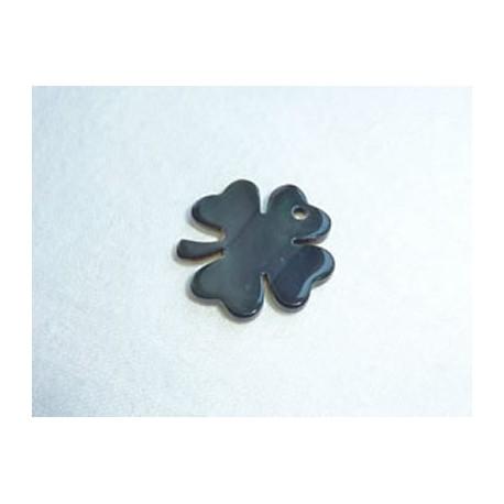 Nacre trèfle gris - Petit modèle 1,5 cm