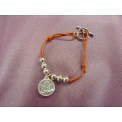 Bracelet enfant ange+ billes argent