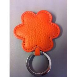 fleur en cuir orange