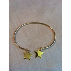 jonc plaqué or étoile