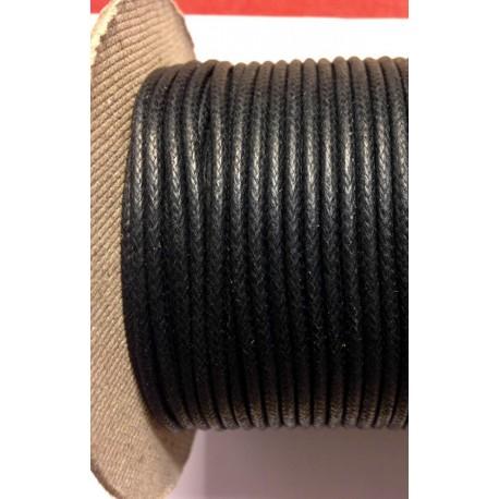 coton ciré Noir (2mm)