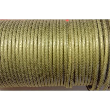 Coton ciré - Kaki (2mm)