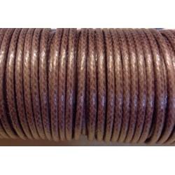 coton ciré  Chocolat (2mm)