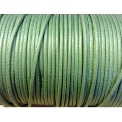 Coton ciré - Vert amande (2mm)