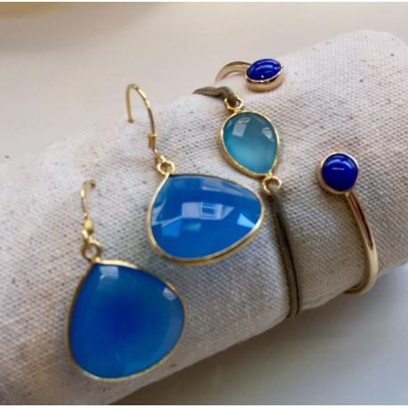 Composition bleu calcédoine