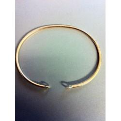 Jonc plaqué or de 5.6cm de diamétre à personnaliser