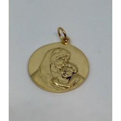 Médaille vierge plaqué or de 2.2CM