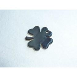 Nacre trèfle gris - Grand modèle 2,5 cm