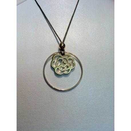 collier cercle plaqué or +arabesque plaqué or