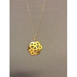 Collier - sautoir arabesque plaqué or
