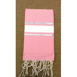 FOUTA LUREX ROSE