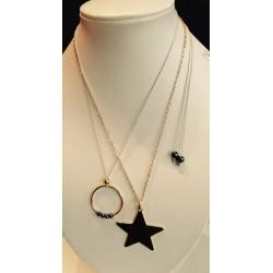 Collier étoile monté sur chaine plaqué or