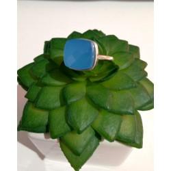 Bague bleu calcédoine